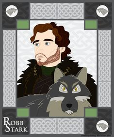 Robb Stark and Grey Wind by smallsqueaktoy