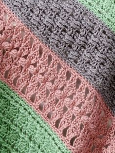 Soft Stripes Throw | Yarn | Free Knitting Patterns | Crochet Patterns | Yarnspirations
