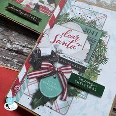 December Daily Simple Vintage North Pole Part 3 - Jo Boland - Hey Little Magpie Hello December, December Daily, Santa Christmas, Christmas Ornaments, Crate Paper, Holly Berries, Simple Stories, Vintage Christmas Cards, North Pole