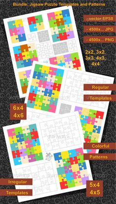 Bundle of Puzzle Templates and Patterns