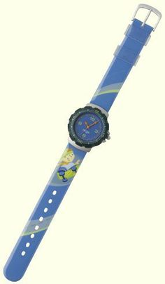 """Ollie Wristwatch by HABA. $31.49. HABA 1997 - Watch strap of synthetic material, case of aluminium with stainless steel back, waterproof up to 30 meters depth. Band measures 9"""" long. Made in China."""