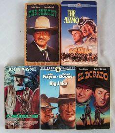 John Wayne Western Collection Shootest Chisum Alamo El Dorado Jake VHS Lot of 6 Dvd Vcr, Vhs Tapes, Movies For Sale, John Wayne Movies, Vcr Player, Wyatt Earp, Christopher Reeve, Vhs Movie, Electronic Media
