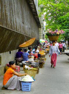 Yangon Street Scene. Myanmar