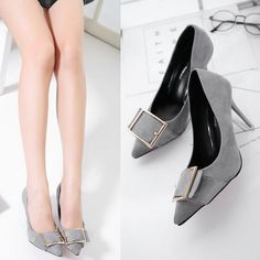 Square Buckle Thin Heel Shoes _Wholesale High Heels_WHOLESALE SHOES_Wholesale clothing, Wholesale Clothes Online From China High Heel Pumps, Pumps Heels, Flats, Shoes Wholesale, Wholesale Clothing, China, Clothes, Fashion, Moda