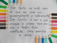 Cartaz para embelezar e refletir em reunião de pais e professores em escola.