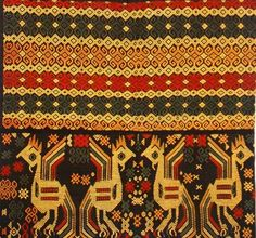 Traditional Indonesian (Sumba) Ikat Textile Pattern