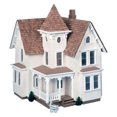 Have to have it. Greenleaf Fairfield Dollhouse Kit - 1/2 Inch Scale $61.98 Dollhouse Design, Dollhouse Kits, Wooden Dollhouse, Dollhouse Furniture, Dollhouse Miniatures, Home Furniture, Fairfield House, Creative Kids, Doll Houses