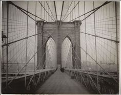 Alfred Stieglitz: I like how this is taken from the middle is there bridge and this picture looks symmetrical.