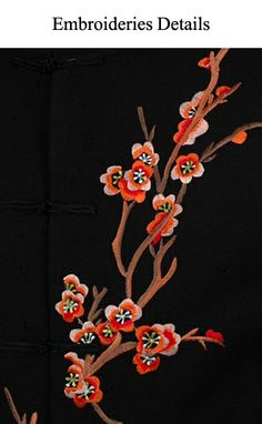 FINE CHINESE CLOTHING - Men Jackets - Chinese Embroidery Prom Wool Jacket - Plum Blossoms