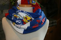 Um this is awesome!! T Shirt Scarf Necklace Kansas University Basketball Red and Blue KU Rock Chalk Jersey. $30.00, via Etsy.