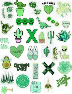 Stickers by MadEDesigns. One-off die-cut Stickers. Tumblr Stickers, Phone Stickers, Cactus Stickers, Printable Stickers, Planner Stickers, Mac Book, Diy Phone Case, Phone Cases, Aesthetic Stickers