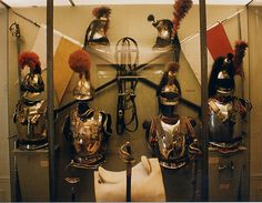 Left to Right:   Casque and Cuirasse, Trooper, Carabinier (1811-1815)   Casque and Cuirasse, Officer, Carabinier (1810-1815)   Casque and Cuirasse, Colonel, 3rd Cuirassier (Colonel Sasque); Cuirasse and Epaulettes are from Colonel Herbaut in the 4th Cuirassiers (1807)   Casque and Cuirasse, Trooper, 7th Cuirassier (1807-1812)