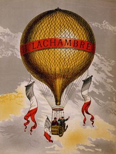 The Artwork Factory 17105 H Lachambre Vintage Poster Ready to Hang Artwork Retro Poster, A4 Poster, Poster Prints, Art Prints, Vintage Advertising Posters, Vintage Travel Posters, Vintage Advertisements, Ballon Illustration, French Illustration