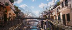 Kreola After Earth - The New Venice by Gurmukh Bhasin, via Behance Environment Painting, Environment Concept Art, Environment Design, Landscape Concept, Urban Landscape, After Earth, Image Of The Day, Matte Painting, Photoshop Design