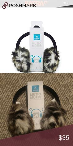 YATRA leopard music muffs Ear muffs that double as head phones with the attachment of one cord. (Can unplug and pull off and use just ear muffs). Brand new never touched these Accessories Hats