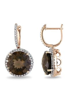 gorgeous smoky quartz earrings