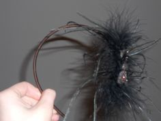 Brown Cloth Butterfly Headband