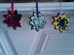 Salt dough Ayyam-i-ha star ornaments