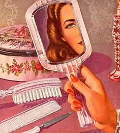 Ideas For Vintage Makeup Illustration Pinup Girls Pin Up Retro, Retro Art, American Retro, Makeup Illustration, Retro Poster, Art Graphique, Pulp Art, Vintage Ads, Vintage Vanity