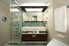 The mini suite bathroom has a larger shower with 6 spa like jets, double sinks and is roomy City Bathrooms, Norwegian Breakaway, Top Cruise, Cruise Companies, Disney Wishes, Hotel Indigo, Norwegian Cruise Line, Large Shower, Marriott Hotels