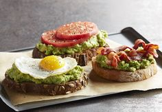 Mashed or sliced California Avocados on toast are easy and delicious for breakfast or for a snack, and can be added to in many different ways to for a craveable taste sensation. Here are three favorite ways to top California Avocado Toast.