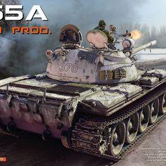 Miniart 37023 Russian Medium Tank T-55A Mod 1965 Late Plastic Model Kit 1//35