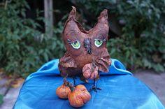 OOAK Handmade Primitive Halloween Fall Owl. #NaivePrimitive #Me