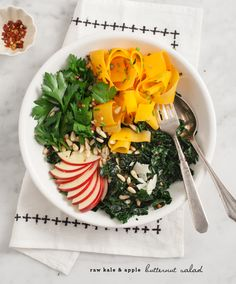 kale & apple butternut salad