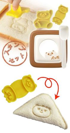 Bear impressions for sandwiches and muffins! So cute!