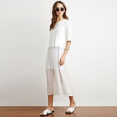 Now Available on chicloth.com: Chicloth White Hi.... Check it out here:  http://chicloth.com/products/chicloth-white-high-low-hem-maxi-dress?utm_campaign=social_autopilot&utm_source=pin&utm_medium=pin