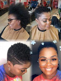 Natural Hair Short Cuts, Short Natural Haircuts, Tapered Natural Hair, Natural Hair Styles For Black Women, Short Hair Cuts, Short Hair Styles, Big Chop Hairstyles, Twa Hairstyles, Tapered Haircut