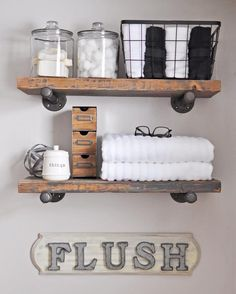 Learn how to Build these Easy DIY Industrial Pipe Shelves. Complete with instructions this tutorial will guide you through the steps to build these shelves.
