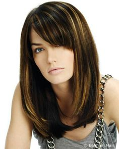 Love this simple hairstyle with long layers and sideswept bangs. Might be my next hairstyle!