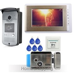 """145.58$  Watch here - http://alizma.worldwells.pw/go.php?t=32456770816 - """"FREE SHIPPING Wired 7"""""""" TFT LCD Video Door phone Intercom System 1 Monitor + RFID Access Camera + Electric Control Lock IN STOCK"""""""