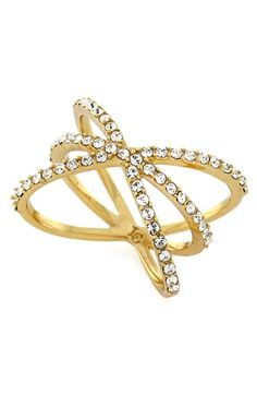 Louise+et+Cie+Micro+Pavé+Starburst+Ring+available+at+#Nordstrom