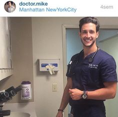 Doctor Mike, Doctors, Hot Doctors, Sexy Doctors, Man Crush Monday, M.D, Doctors of Instagram