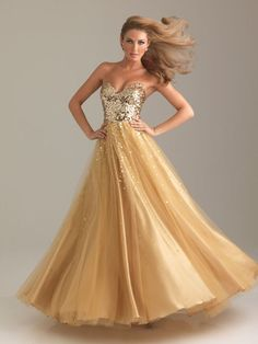 ball gown dresses in gold - Google Search