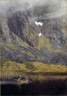 """""""Ekko"""", 1888, Theodor Kittelsen (Echo)"""