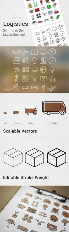 Logistics Icons Set - Business Icons