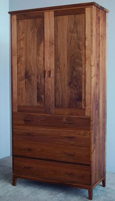 Charmant 4 Drawer Armoire In Walnut From Our Brooklyn Workshop