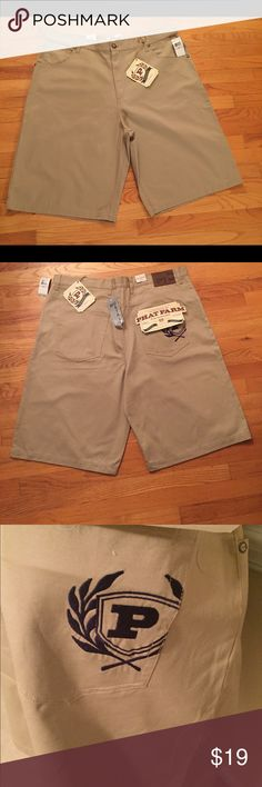 90's NWT Men Sz 44 Phat Farm Khaki Tan Shorts Ready for that 80's 90's Party!! Throwback Brand New all Tags Attached, Phat Farm Khaki/Tan Men Shorts Size 44 Shorts are long in length.. Phat Farm Shorts