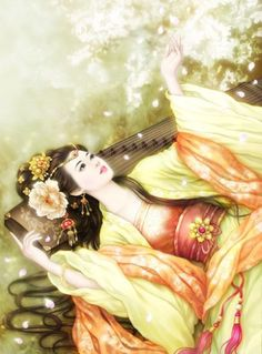 Guzheng, off the sound of Office, gentle touching, untold poetry.