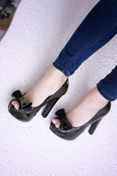 Black Heels with Bows