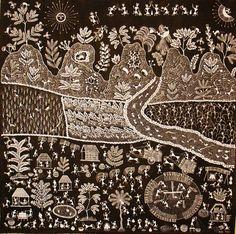 Ronde d'oiseaux autour du dieu, 98x92 cm. Dernière visite guidée le samedi 30 Janvier par Christian Guillais, grand connaisseur de l'Inde et collectionneur d'art warli. P our réserver, appelez Benjamin au 04 76 46 20 09. Il vous reste une semaine pour...