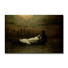 John Grimshaw 'The Lady of Shalott' Canvas Art | Overstock.com Shopping - Top Rated Trademark Fine Art Canvas