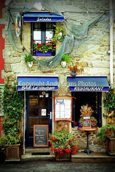 Restaurant in Concarneau Brittany France photograph picture poster art print #concarneau #brittany #art #photography