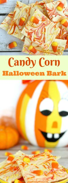 Need a fun Halloween treat? This Candy Corn Halloween Bark is both easy to make and fun to eat! It's perfect for Halloween parties or just a white chocolate Halloween treat. Halloween Bark, Halloween Party Treats, Halloween Chocolate, Halloween Desserts, Holiday Treats, Halloween Stuff, Halloween Baking, Halloween Goodies, Halloween Recipe