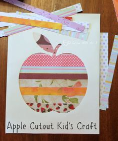 Apple Cutout Kids Craft, perfect for preschoolers or gradeschoolers, and fun and easy!