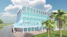 Cocoa Beach Glass Bank in 3D