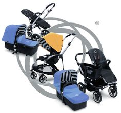 Bugaboo Cameleon, Donkey & Bee 2013 Special Edition Colors - Jewel Blue & Sunny Gold available at NessaLeeBaby